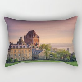 Dusk in Québec City Rectangular Pillow