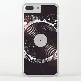 Retro record Clear iPhone Case