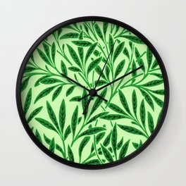 William Morris Willow Pattern, Light Jade Green Wall Clock