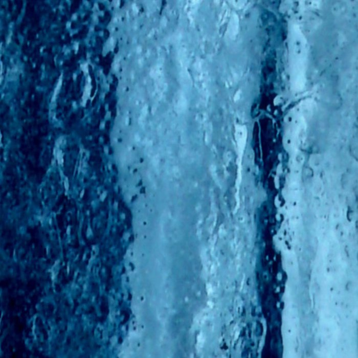 Ice with blue tonnes in a cold winter Leggings