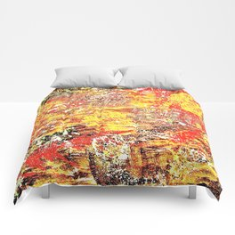 Golden Autumn Abstract Comforters