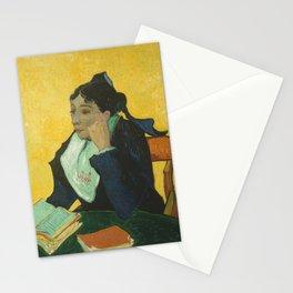 Vincent van Gogh - L'Arlésienne: Madame Joseph-Michel Ginoux (Marie Julien, 1848–1911) Stationery Cards