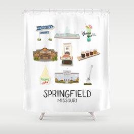 Springfield, Missouri Shower Curtain