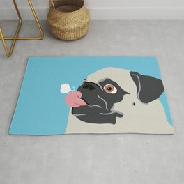 Pug Butterfly Flat Graphic Rug