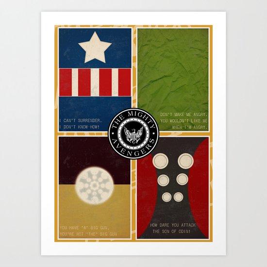 The Mighty Avengers Art Print