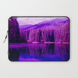 Beautiful Purple Landscape - Trees and Water Laptop Sleeve