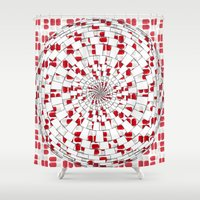 drunk Shower Curtains featuring Drunk Drug by Ashley James