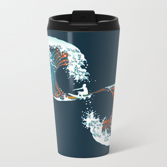 The Wave is forever Metal Travel Mug