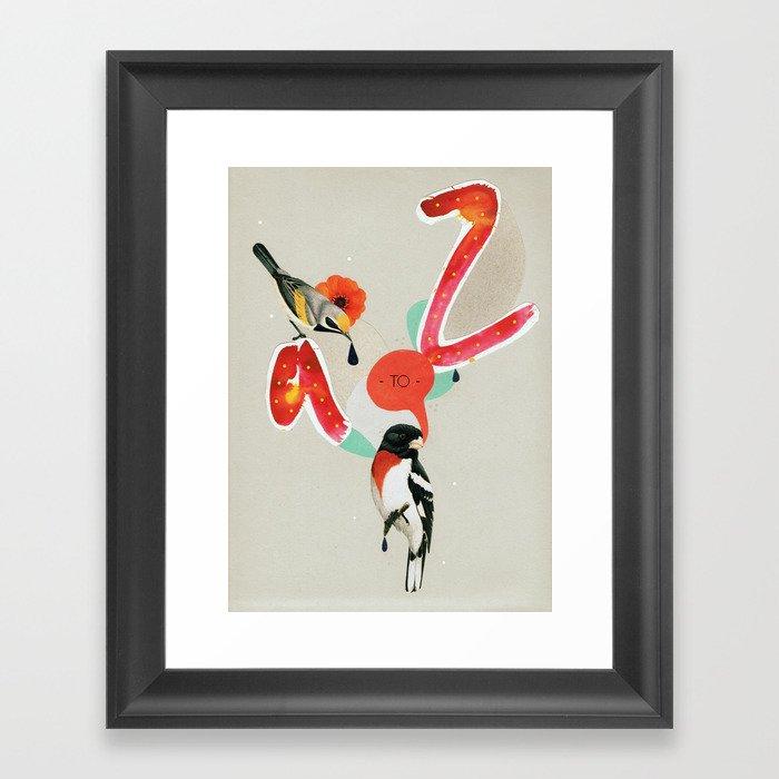 a to z Framed Art Print