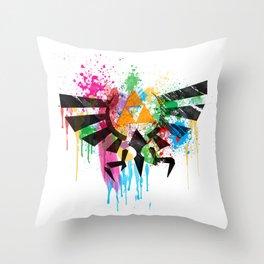 Hylian Pain Splatter Throw Pillow