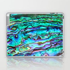 Glowing Aqua Abalone Shell Mother of Pearl Laptop & iPad Skin