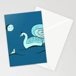 Swan time Stationery Cards