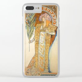 Art Nouveau poster by Alphonse Mucha Clear iPhone Case