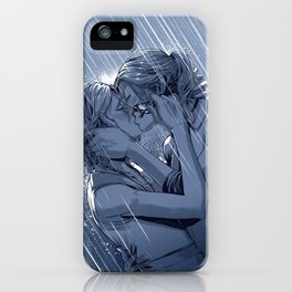 Supercat Kiss in the Rain BLUE iPhone Case