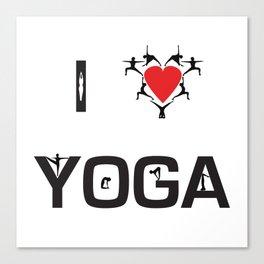 I heart Yoga Canvas Print