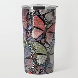 butterflies galore grunge version Travel Mug