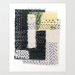 Boro Kantha Textile Art 002 Art Print