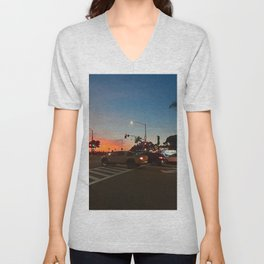 Mobil in Laguna Beach Unisex V-Neck