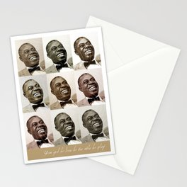 Jazz Heroes Series - Louis Armstrong Stationery Cards