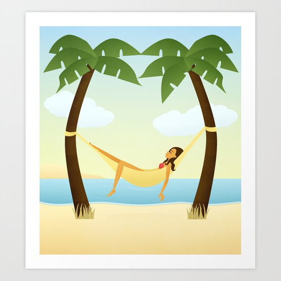 Tropical Relaxation Art Print