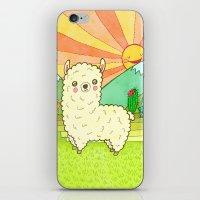 alpaca iPhone & iPod Skins featuring Alpaca by My Zoetrope