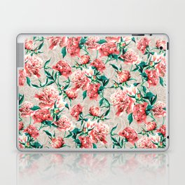 Peonies with lace effect Laptop & iPad Skin