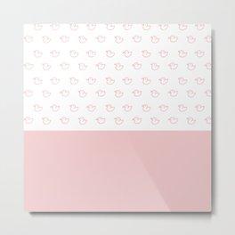 Ducklings Pink Metal Print