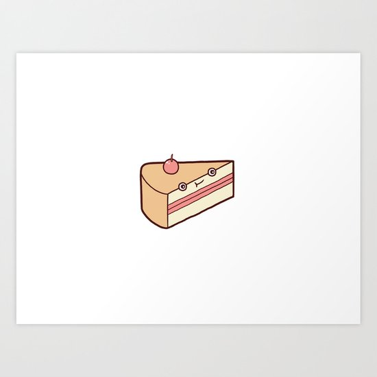 Happy Cake Art Print