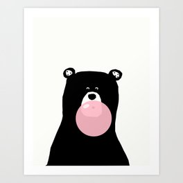 Bear gum Art Print