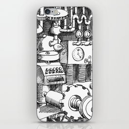 DINNER TIME FOR THE ROBOT iPhone Skin