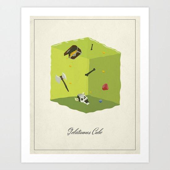 Gelatinous Cube Art Print