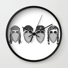 Pandemic Social Club Wall Clock