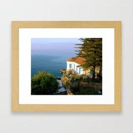 Amalfi Coast Villa Framed Art Print