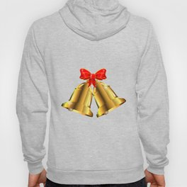 Two Christmas Bells Tied With Red Ribbon Hoody