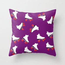 Roller Skaters Throw Pillow