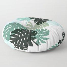 Tropical Monstera - green Floor Pillow