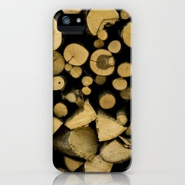 wood composition iPhone Case