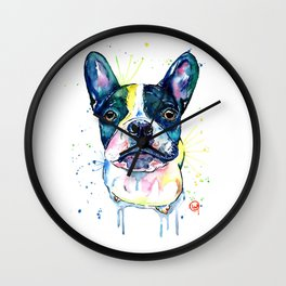 French Bulldog - Juno the Frenchton Wall Clock