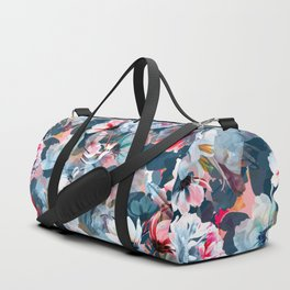 mysterious multicoloured floral Duffle Bag