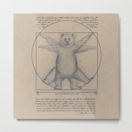 The Vitruvian Bear Metal Print