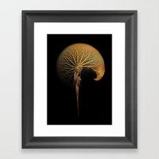 dandelion fractal art Framed Art Print