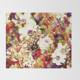 flowers profusion Throw Blanket