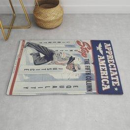Vintage poster - Appreciate America Rug