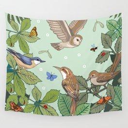 Woodland Birds Wall Tapestry