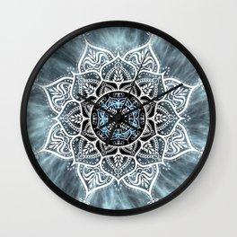 Heart Of The Moon Mandala Wall Clock