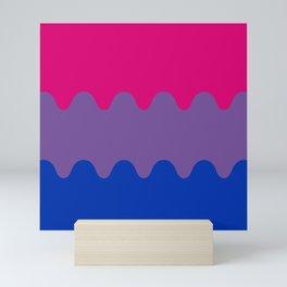 Wavy Bisexual Flag Mini Art Print