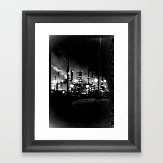 Vintage Pollution Framed Art Print