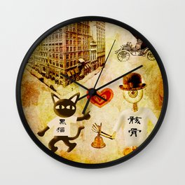 Monsieur Bone,Whim et la cloche Wall Clock