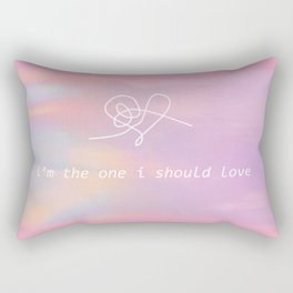 bts jin epiphany - i'm the one i should love Rectangular Pillow