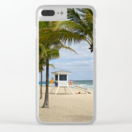 Fort Lauderdale Beach Lifeguard cabin Clear iPhone Case